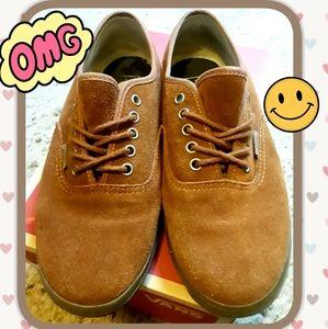 🍁 RARE Vans Brown Suede Sneakers Size 8🍁